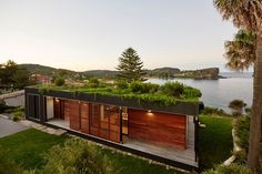 This prefab house with a lush green roof was built in six weeks