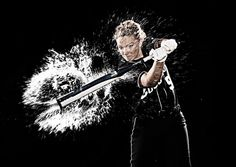 """""""Exploding Water and the BYU Softball Poster - I would have never guessed they actually shot these with the water in the original photo."""" This is awesome and would be so fun! So excited to see softball get some hype! Senior Softball, Softball Senior Pictures, Baseball Pictures, Team Pictures, Softball Players, Girls Softball, Fastpitch Softball, Sports Pictures, Senior Photos"""