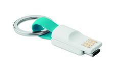 Cable Tipo C con llavero, apto para smartphones y tablets. Fabricado en plástico TPE.