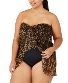 Lauren Ralph Lauren Plus Size Leopard-Print Flyaway One-Piece Swimsuit, Created for Macy's & Reviews - Swimsuits & Cover-Ups - Plus Sizes - Macy's Swimsuit Cover Ups, One Piece Swimsuit, Plus Size One Piece, Women's Socks & Hosiery, Plus Size Women, Active Wear, Ralph Lauren, Swimsuits, Swim Wear