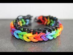 Rainbow Loom Nederlands, Raindrops armband, rondom, 1 loom - YouTube