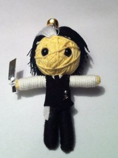 Sweeney Todd Voodoo String Doll Keychain by String Doll World. $5.99. Felt. Each doll is a high quality Handcrafted voodoo String Doll keychain. Colour and design may vary slightly due to handmade nature.. Eco-Friendly, made from string and recovered textiles and beads.. Comes with Keychain attachment for use as keychain or hanging ornament. String Doll Keychain. A handmade / hand crafted doll made from a single flax rope. Each doll is hand decorated and adorne...