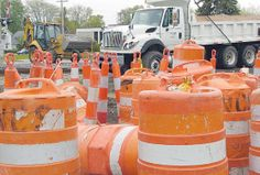 Findlay has become a big construction zone, as sewer, road and railroad projects are underway at the same time. Norfolk Southern Railroad wo...