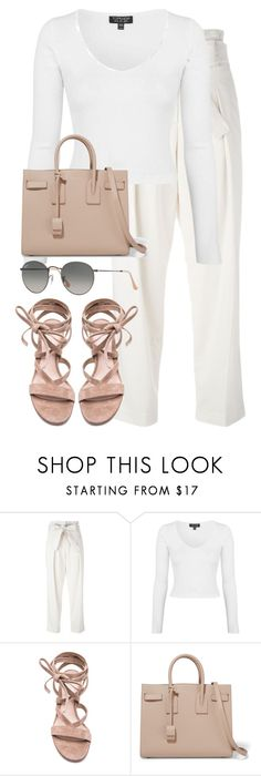 """""""Untitled #2721"""" by elenaday ❤ liked on Polyvore featuring 3.1 Phillip Lim, Topshop, Gianvito Rossi, Yves Saint Laurent and Ray-Ban"""