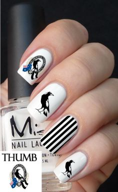 Collingwood football club nail decals | Decals by Land