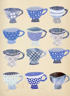 tea cup collage via ragtales Security Envelopes, Envelope Art, Paper Art, Paper Collages, Encaustic Art, Tea Art, Mixed Media Canvas, Surface Design, Collage Art