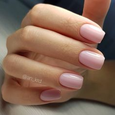 Pretty red on short nails - Today Pin - Nageldesign - Nail Art - Nagellack - Nail Polish - Nailart - Nails - Pink Shellac Nails, Blush Pink Nails, Baby Pink Nails, Short Pink Nails, Diy Nails, Short Nail Manicure, Nail Pink, Pink Manicure, Oval Nails