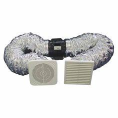 Clearflow Shower Fan Kit with Timer White Budget Bathroom, Showers, Fan, Hand Fan, Fans