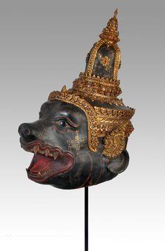 Chompuparn - Thai khon mask - collection of Stephane Peray - Bangkok   - stephff.cartoonist@gmail.com