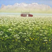 Lite hus i verden - Modern Art Gallery Printmaking, Norway, Modern Art, Stencils, Vineyard, Art Gallery, Display, Mountains, Plants