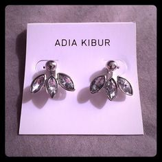 Adia Kibur Crystal & Stud Ear Jacket Adia Kibur Crystal & Stud Ear Jacket.                       Price firm unless bundled!Please do not purchase this listing. Comment and I will make you a new listing. Adia Kibur Jewelry Earrings
