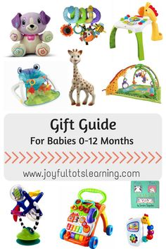 Shopping for a baby under 1?  We've got you covered! Click through to see our list of gifts for babies 0-12 months!