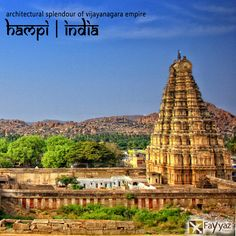 The grandiose site of Hampi was the last capital of the last great Hindu Kingdom of Vijayanagar. The temple town recognised as a UNESCO World Heritage Site is listed as the Group of Monuments at Hampi. Its fabulously rich princes built Dravidian temples and palaces which won the admiration of travellers between the 14th and 16th centuries. Conquered by the Deccan Muslim confederacy in 1565, the city was pillaged over a period of six months before being abandoned.