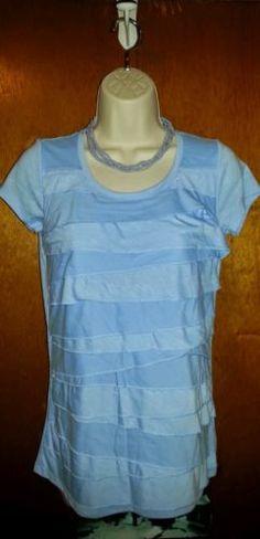 DKNYC Blue Short Sleeved Size S