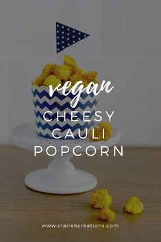These vegan cheesy cauliflower popcorn is sure to turn any veggie-hater into a lover. The secret - nutritional yeast aka nutritional deliciousness. Cauliflower Popcorn, Cheesy Cauliflower, Vegan Cauliflower, Vegan Vegetarian, Vegetarian Recipes, Healthy Recipes, Healthy Food, Popcorn Recipes, Whole Food Recipes