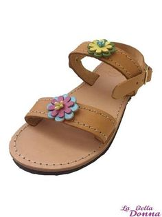 La Bella Donna - Χειροποιητο παιδικο δερματινο σανδαλι - Leather Flowers Sandals, Shoes, Fashion, Moda, Zapatos, Shoes Outlet, Fasion, Footwear, Sandal