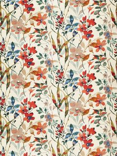 Upholstery Fabric Modern Floral Fabric by PopDecorFabrics