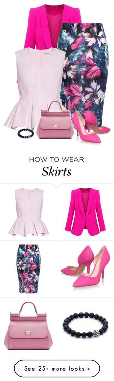"""pink"" by divacrafts on Polyvore featuring Balenciaga, Nine West, Dolce&Gabbana and Original"