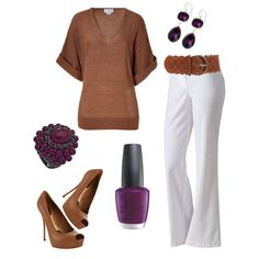 Around the Corner, something about neutrals and deep purple, created by blue-star-marie
