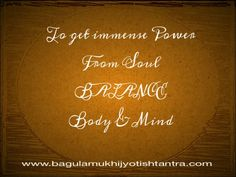 To get power from  soul balance body  & mind
