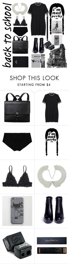 """""""Tuesday Backs to school"""" by lullulu ❤ liked on Polyvore featuring Monki, Ash, The BrowGal, Sloane Stationery, Skinnydip and VisuaLingual"""