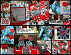 rockabilly baby shower ideas | ... baby shower this rock star baby shower theme was created exclusively