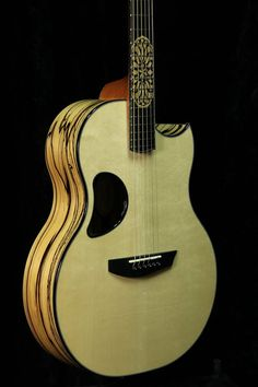 Royal Ebony McPherson Guitar with custom inlay