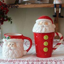 YeFine Criativo Presente de Natal Pai Recipiente de Água Canecas Copos E Canecas De Chá Em Cerâmica Xícara de Café Copos de Porcelana de Qualidade Superior(China)