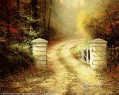 The Autumn Gate by Thomas Kinkade-My friend Melissa bought me this-