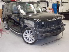 2005 Range Rover before we Lloyds Auto Body gave it a new life
