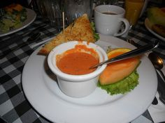 Turkey Sandwich and Tomato Bisque Soup