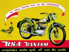 BSA Motorcycle Poster East Africa & World