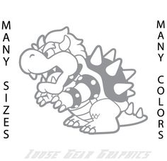 6 SUPER MARIO BOWSER vinyl decal adhesive by LooseGearGraphics, $7.99