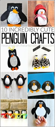 Here are 10 incredibly cute penguin crafts that are great for a winter kids craft, preschool craft and learning about winter animals.