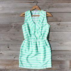 Seafoam Stripe Dress...