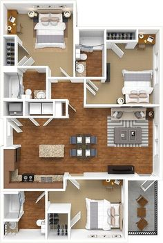 📌 50 Model House Plans for Your Inspiration - House Floor Plans « Sims House Plans, House Layout Plans, Dream House Plans, Modern House Plans, House Layouts, Small House Plans, House Floor Plans, Apartment Layout, Apartment Design