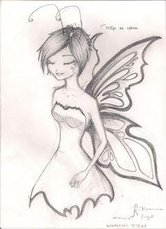 Dark Fairy Drawings Easy Fairy Drawings In 2019