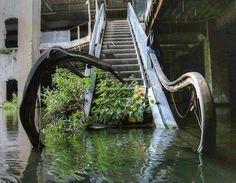 Abandoned shopping mall in Bangkok - Thailand
