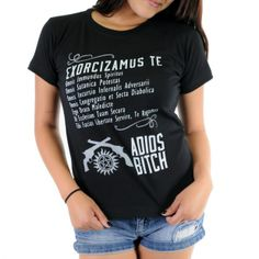 Women's Supernatural Exorcism Adios Bitch Shirt