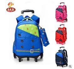 Triple-wheel Trolley Backpack For Children Fashion Character ...