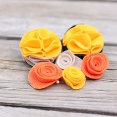 Make felt flowers for wreaths, headbands, clothing and more in less than 5 minutes!