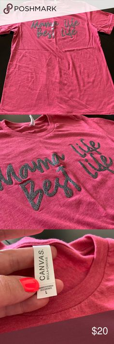 a73ed4e28 Mama Life Best Life Tee Brand new! Never washed and never worn. Beautiful  raspberry