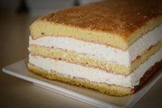 Prajitura cu foi si crema de branza - foi de pandispan si branza dulce Vanilla Cake, Deserts, Pastries, History, Candy, Sweet Desserts, Pies, Fine Dining, Waffles