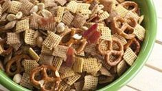 Crunchy bacon baked in with two kinds of Chex™ cereal and some other tasty ingredients. The perfect snacking snack!