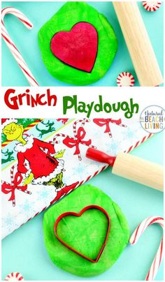 Grinch Playdough, How to make Playdough, Get ready for holiday fun with these Grinch Activities and Christmas Activities For Kids, Thanksgiving Activities, Crafts For Kids, Grinch Christmas, Christmas Crafts, Beach Christmas, Christmas Ideas, Grinch Party, Xmas Party