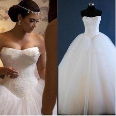 Lace Long Wedding Dresses,Tulle Wedding Dresses,A Line Weddding