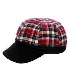 Red Check Bob Cap