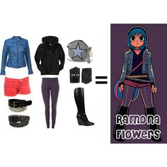 Bored and looking at outfits inspired by characters I like. Now showing: Ramona Flowers.