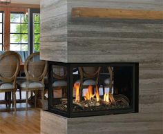 Marquis Atrium Three Sided Gas Fireplace