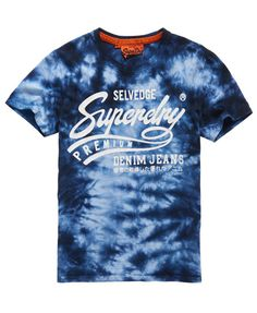 Shop Superdry Mens Premium Denim T-shirt in Indigo Tie Dye. Buy now with free delivery from the Official Superdry Store. Denim T Shirt, Superdry Mens, Men Fashion, Indigo, Tees, Shirts, Tie Dye, Mens Tops, Outfits